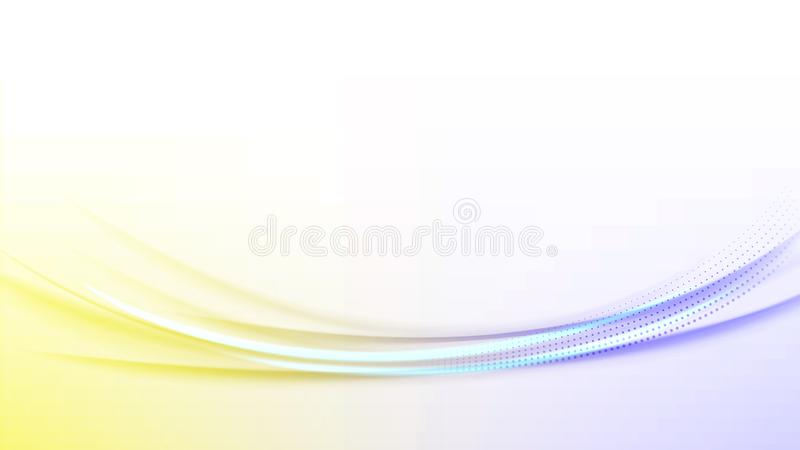 Color energy wind. Curved wind flow. The design of the cover or banner. Vector illustration stock illustration