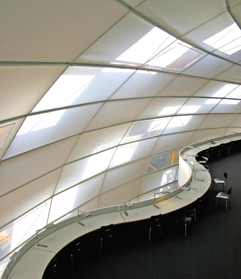 Curves. Library for the Faculty of Philology at the Free University Berlin, Germany (Architect: Norman Foster royalty free stock images