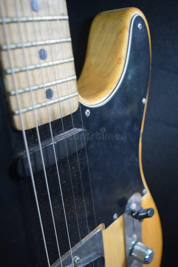 The curves of an electric guitar stock photos