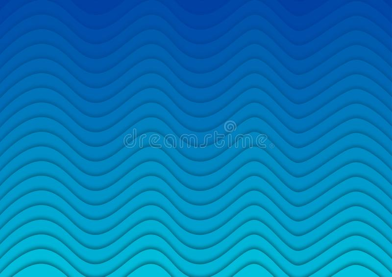 Blue Gradient Background with Waves Texture stock illustration