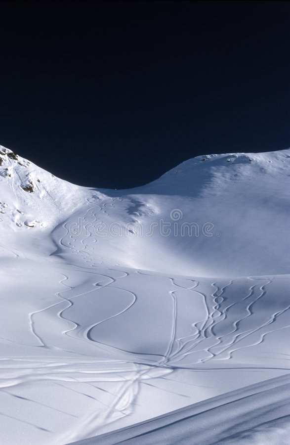 Download Curves in the snow stock photo. Image of blue, landscape - 90700