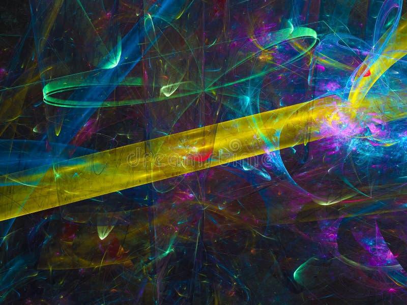 Curvestyle компьютера влияния абстрактного блеска фантазии влияния фрактали цифрового красивое мечт стоковое изображение