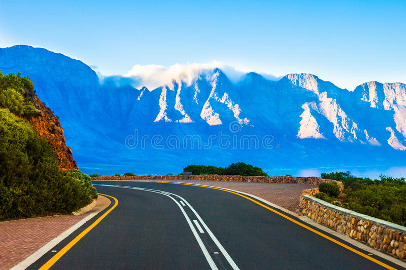Curving highway royalty free stock photography