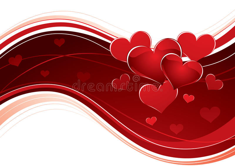 Curving love heart banner stock images