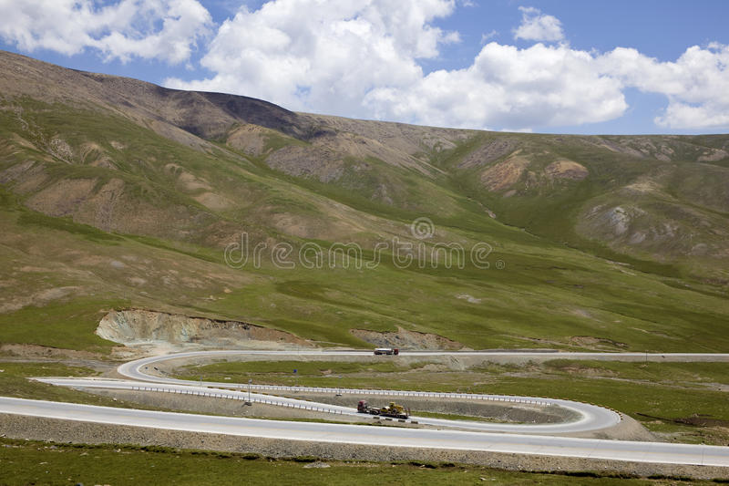 Curving mountain road royalty free stock photos