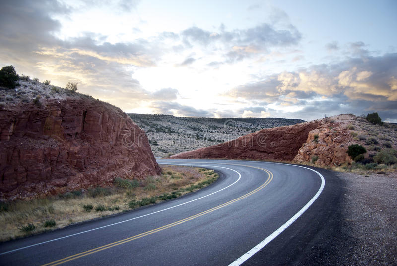 Curving road royalty free stock photography