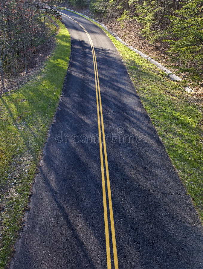Curving Road From Above royalty free stock photos