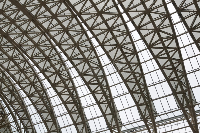 Curving Roof Trusses Stock Photo Image Of Center