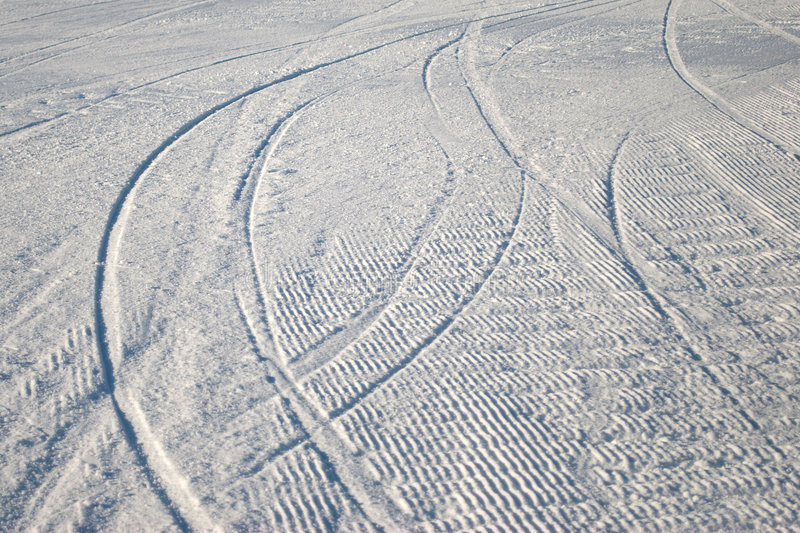 Download Curving ski track in snow stock photo. Image of recreational - 7893102