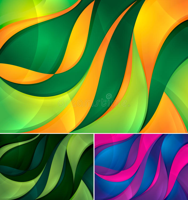 Download Curvy abstract background stock vector. Image of green - 25709293