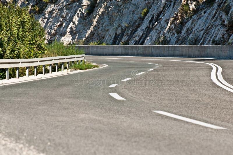 Download Curvy asphalt road stock image. Image of dash, curve - 11363149