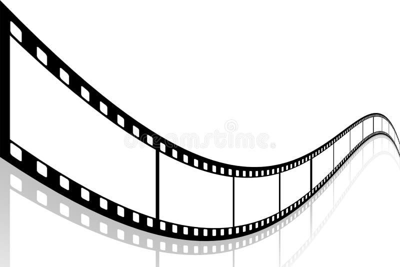 curvy filmrulle vektor illustrationer