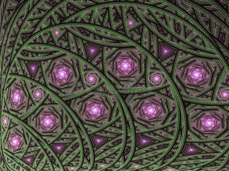 Curvy gedetailleerd patroon met spiralen stock illustratie