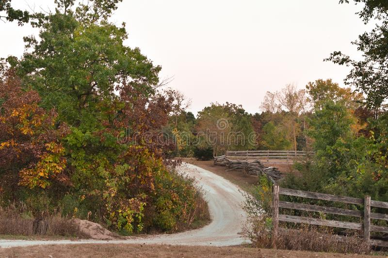 Curved Gravel Road royalty free stock photo