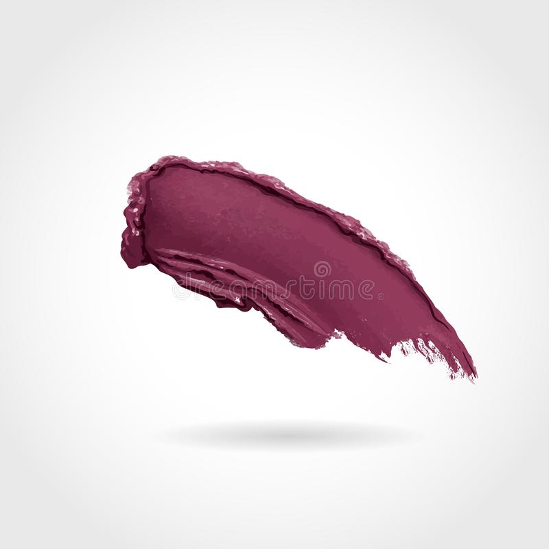 Curvy lipstick smear, smoothly smudged. Makeup sample, use for advertising flyer, banner, brochure and booklet. Vector vector illustration