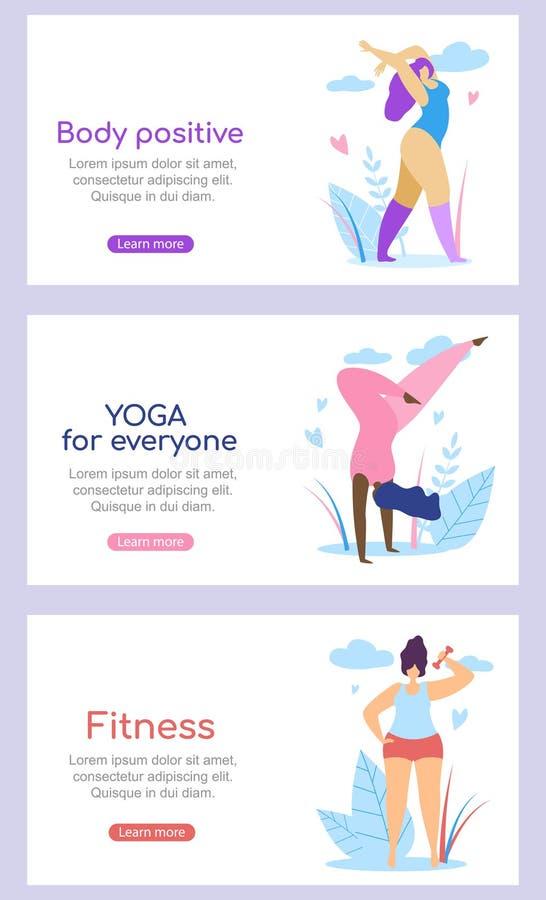 Curvy Międzynarodowych kobiet Aktywny Zdrowy styl życia ilustracji