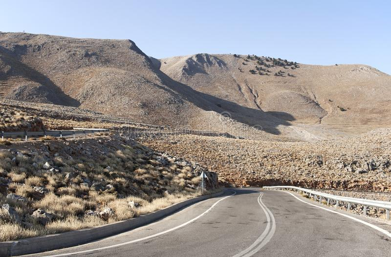 Curvy mountain road royalty free stock photography
