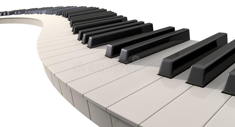 Curvy pianino klucze ilustracja wektor