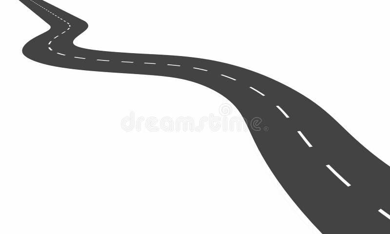 Download Curvy road stock illustration. Image of travelling, asphalt - 31040953