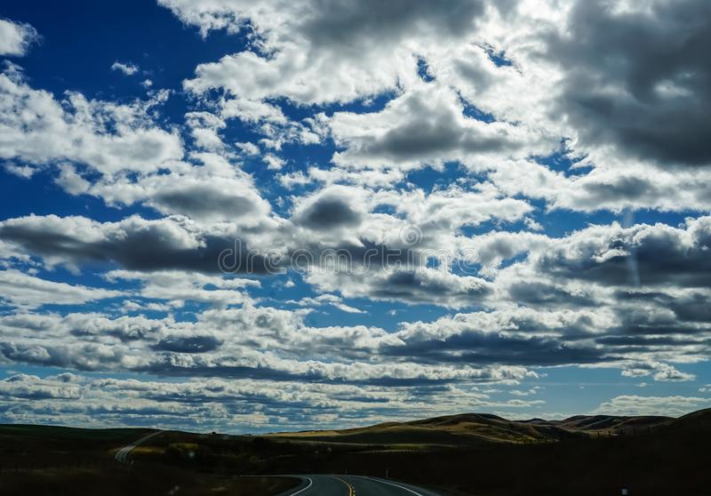 On the curvy road royalty free stock photos