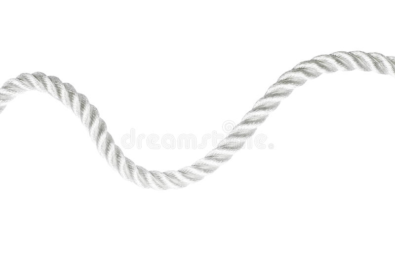 Download Curvy rope isolated stock photo. Image of twisted, string - 18715758