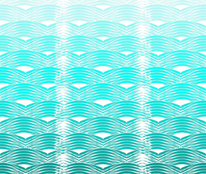 Curvy waves pattern stock illustration