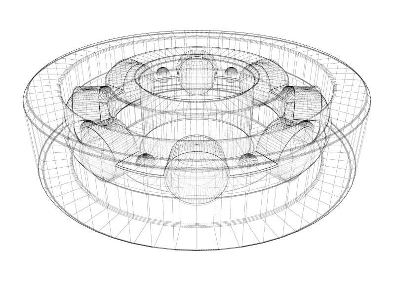 Cuscinetti a rulli della sfera d'acciaio illustrazione vettoriale