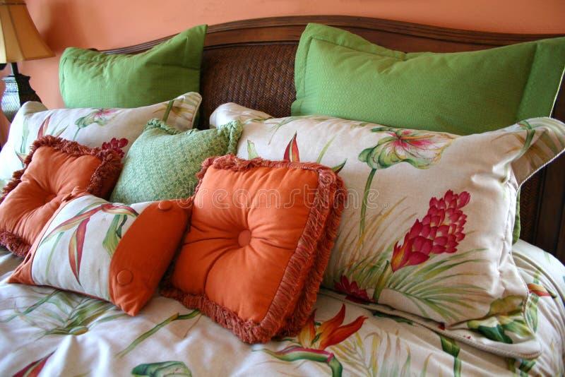 Download Cuscini gonfi fotografia stock. Immagine di colourful, copriletto - 203828