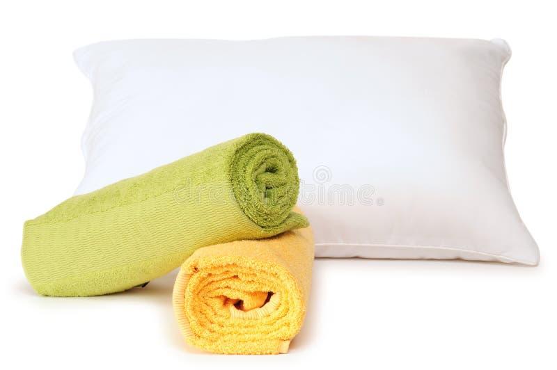 Cuscino bianco. fotografia stock