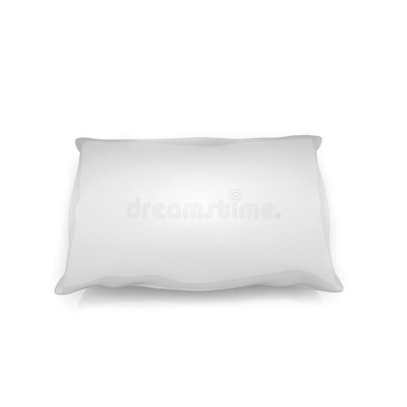 Cuscino in bianco isolato su fondo bianco immagine stock