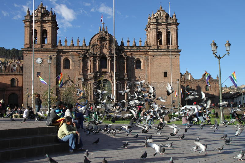 Download Cusco cathedral editorial photography. Image of cross - 15115487