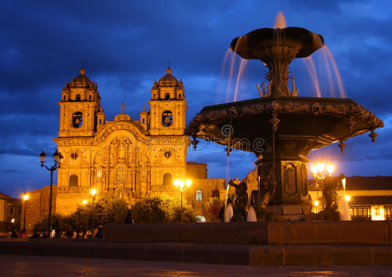 Cusco cathedral in Peru royalty free stock photography