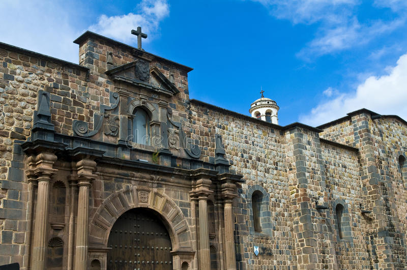 Cusco church of Santo Domingo stock images