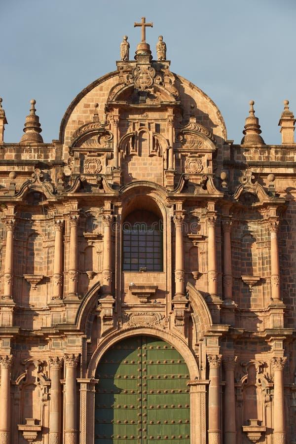 Cusco domkyrka royaltyfria foton