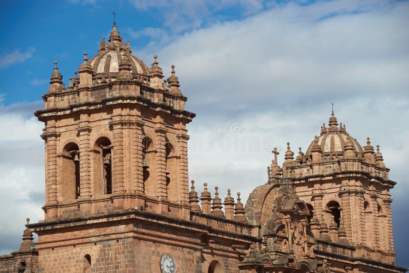 Cusco domkyrka arkivbild