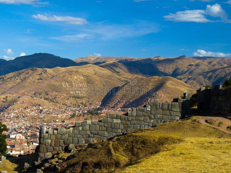 Cusco et Sacsayhuaman image stock