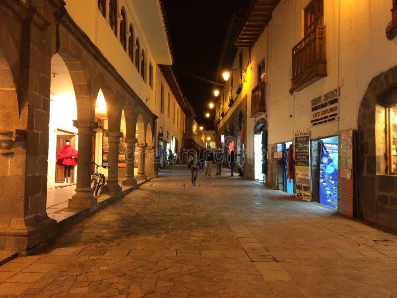 Cusco gata royaltyfri foto