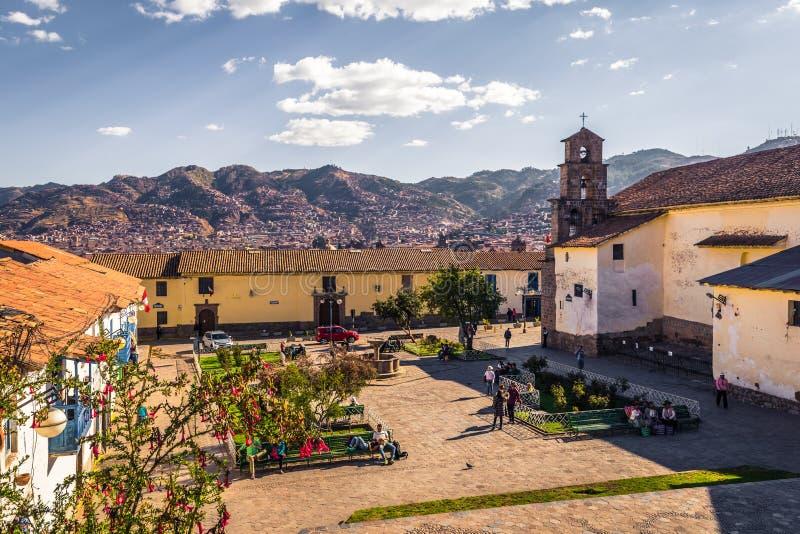 Cusco, Pérou - 1er août 2017 : Place dans la vieille ville de Cusco, images stock