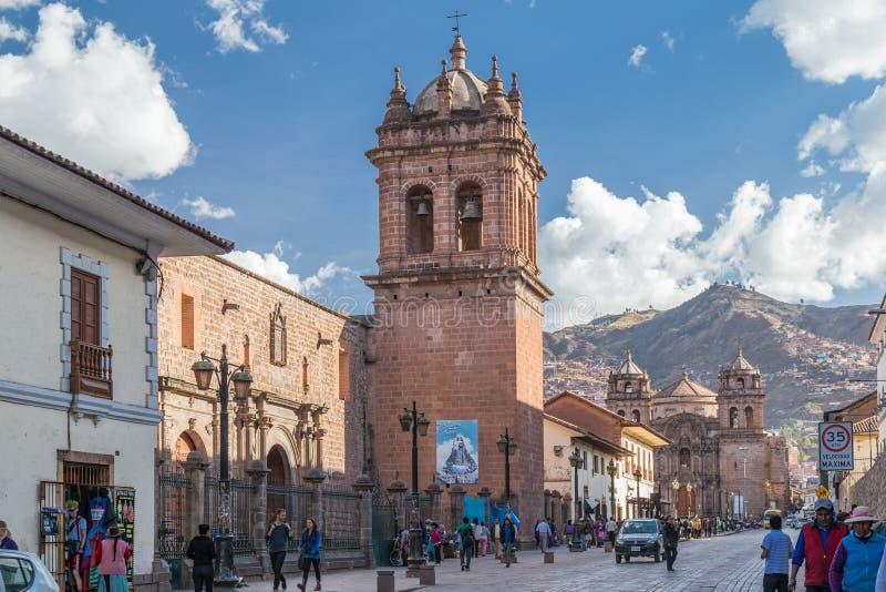 Cusco, Perú - circa junio de 2015: Santo Clare Church en Cusco, Perú imagen de archivo libre de regalías