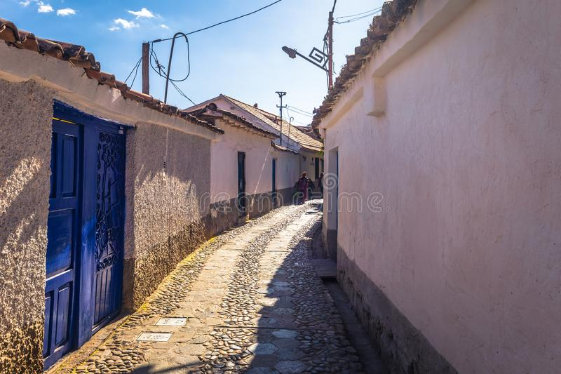 Cusco, Peru - August 01, 2017: Streets of the old town of Cusco, Peru stock photography