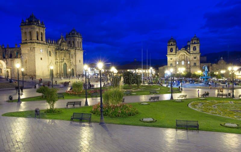 CUSCO PERU-NOV 9: Catedral de Santo Domingo em novembro 9 2015 em Cusco Peru Building foram terminados em 1654, quase cem anos imagens de stock