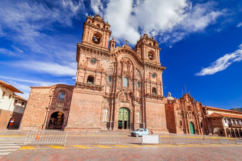 Cusco Peru - Plaza de Armas royaltyfri bild