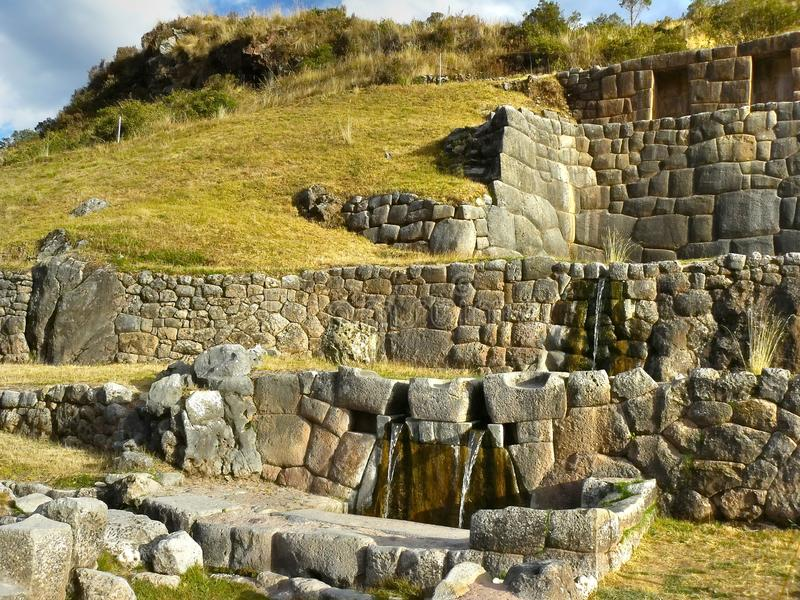 cusco Peru tambomachay obraz stock