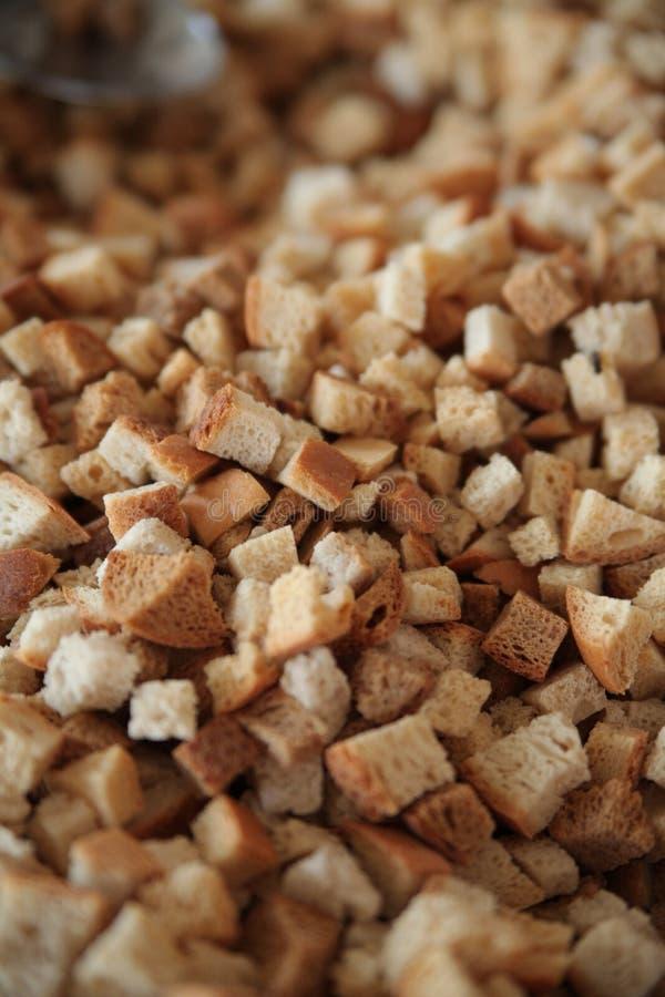 Cuscurrones del pan frito imagenes de archivo
