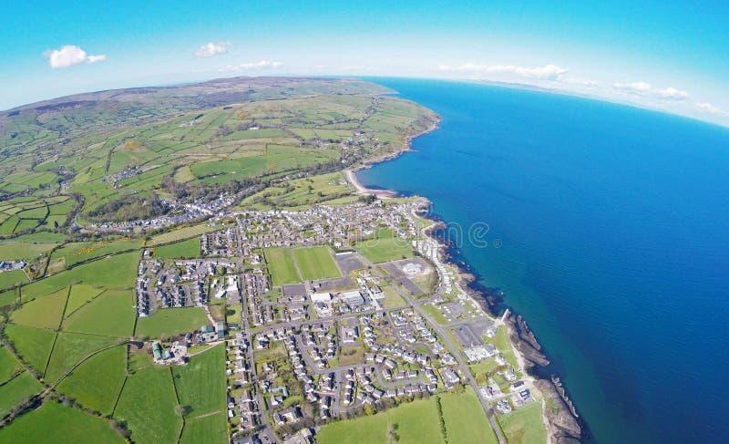 Cushendall Ballintoy Harbour Co.Antrim Northern Ireland ireland. Dunluce Castle Co. Antrim Northern Ireland n.i. rathlin island gles of antrim green glens is royalty free stock photos