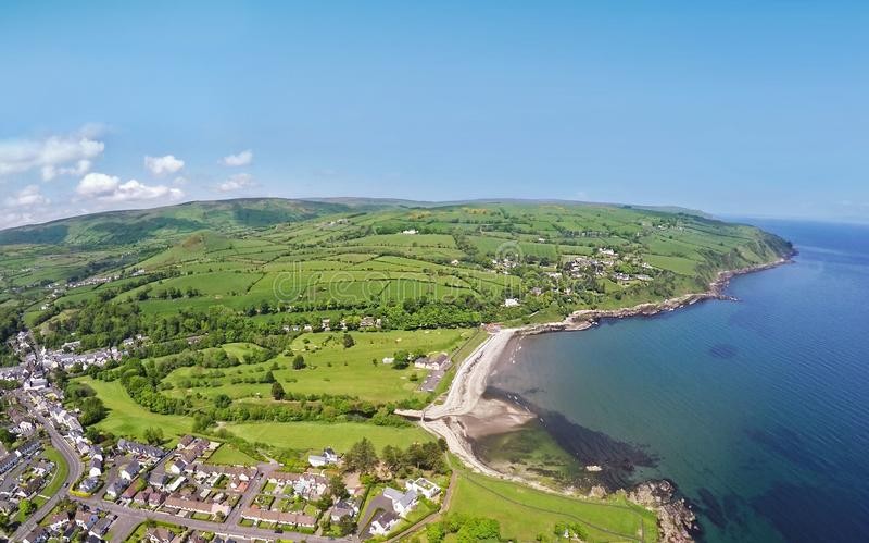 Cushendall golfklubbhamn Co Nordliga Antrim - Irland Irland royaltyfria bilder