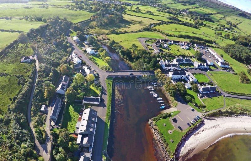 Cushendun Co.Antrim Northern Ireland ireland. Near rathlin island gles of antrim green glens royalty free stock images