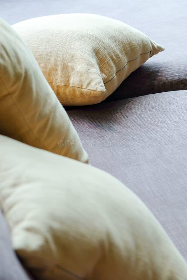 Cushion on sofa royalty free stock image