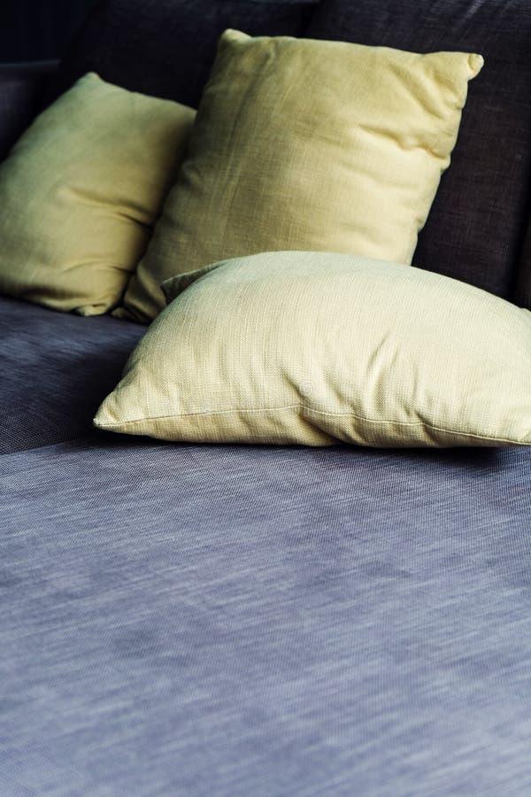 Cushion on sofa royalty free stock photos