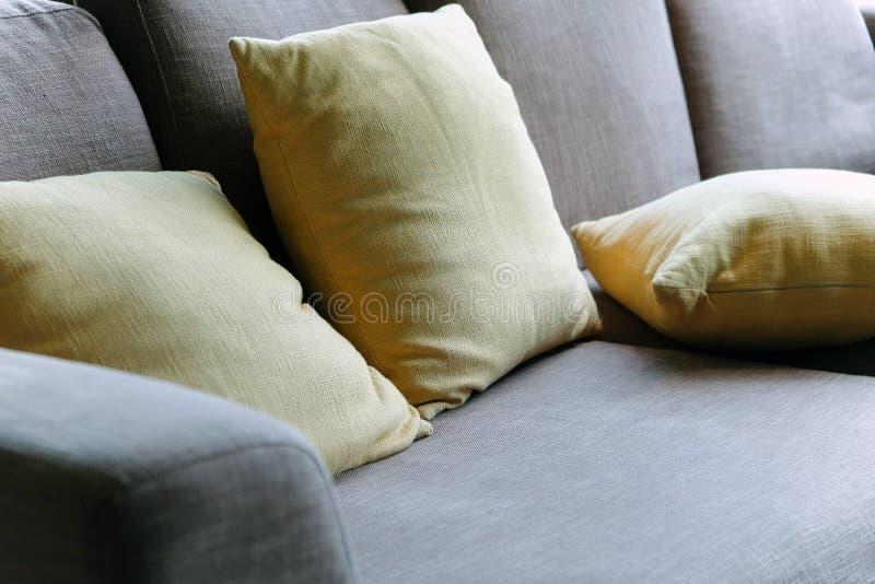 Cushion on sofa stock photo